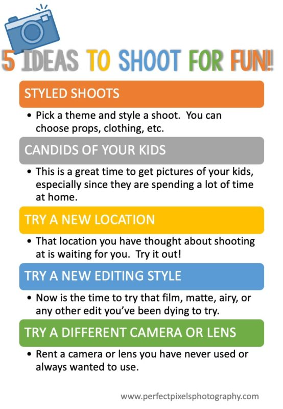 five ideas to shoot for fun